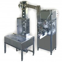 AUTOMATI C MACHINE FOR ORIENTATION AND CLOSING OF CAPS, model «М 1»